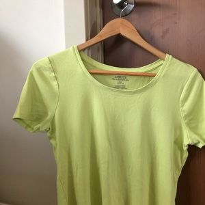 Chico's Tops - Chico's the ultimate tee yellow green color